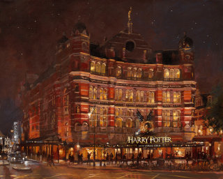Building architecture painting by Johan Walsom