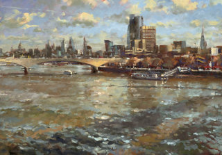 Skyline painting by John Walsom