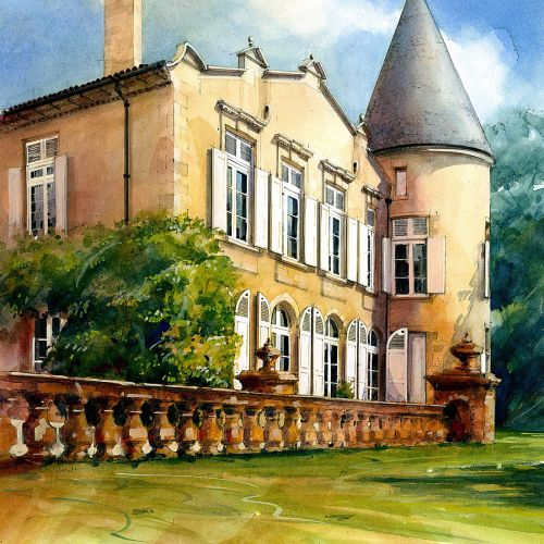 Chateau Lafite illustration