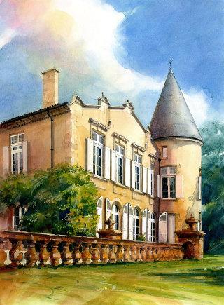 Chateau Lafite illustration