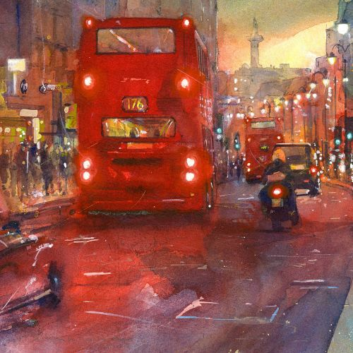 Strand Westbound transpotation painting