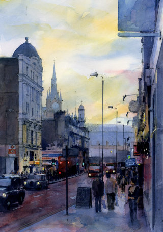 Streetscape Illustration by John Walsom