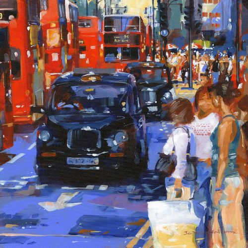 Oxford Street Summer oil painting by John Walsom
