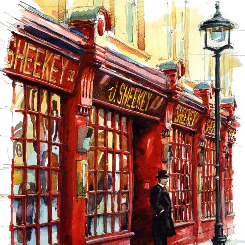 Sheekey's Restaurant - Architectural painting