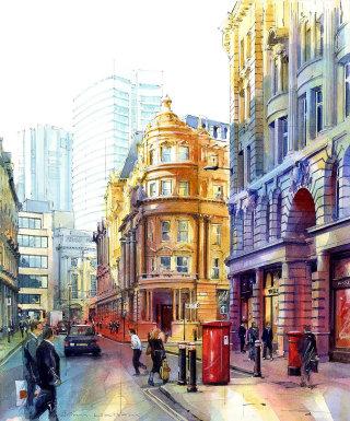 Architectural artwork of Blomfield Street