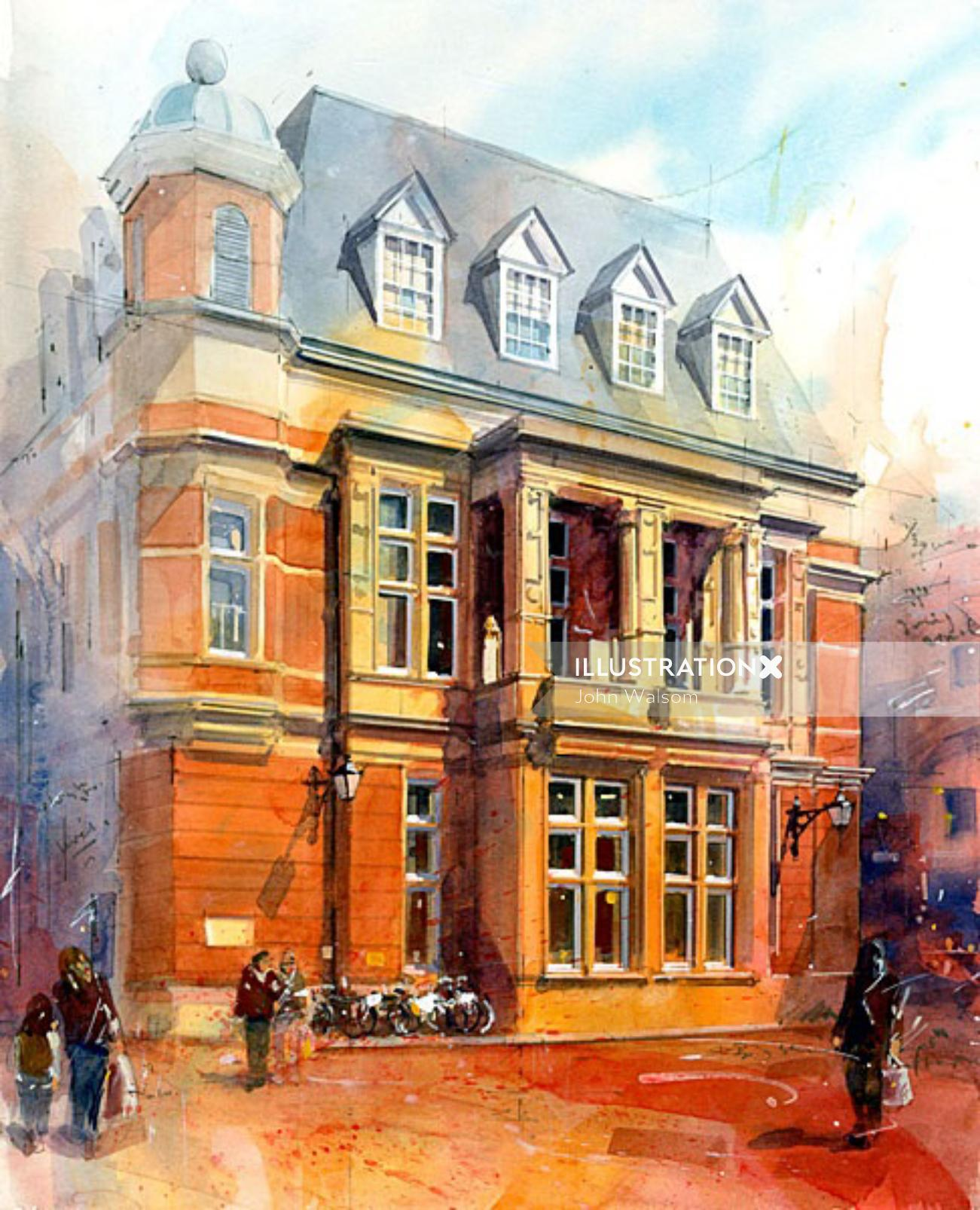 Richmond old town hall - Architectural drawing