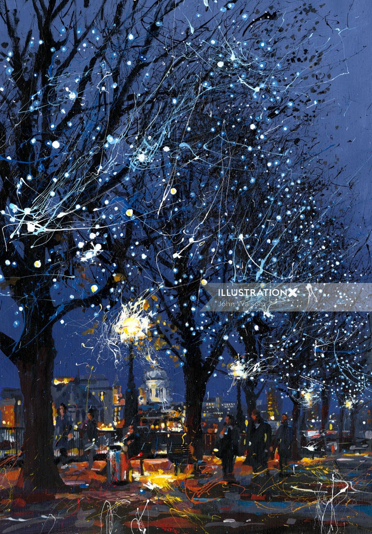 South Bank Lights illustration