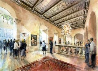 Proposal for the interior of a historic theatre in Malta