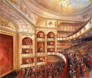 Theatre Auditorium - Architectural sketch
