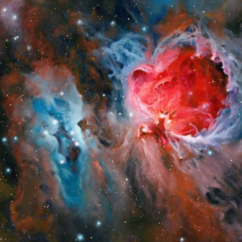 Orion Nebula Painting