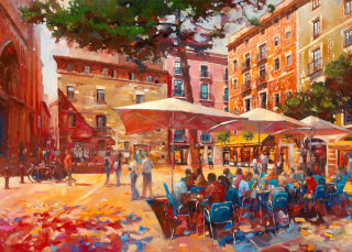 Market place painting by John Walsom