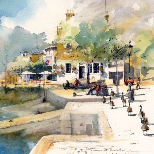Watercolour of Richmond River Thames