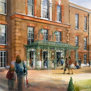 Illustration of the proposed new portico to Kensington Palace