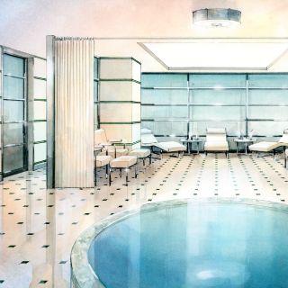 Hotel Spa Interior - Architectural illustration