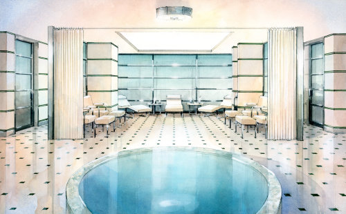 Hotel Spa Interior - Architectural illustration