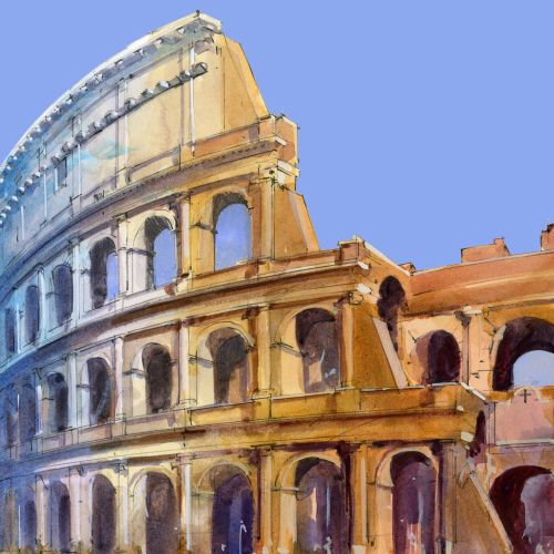 The Colosseum - Architectural painting