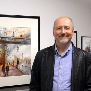 John Walsom - Illustrateur d'Architecture et de Rues. Royaume-Uni