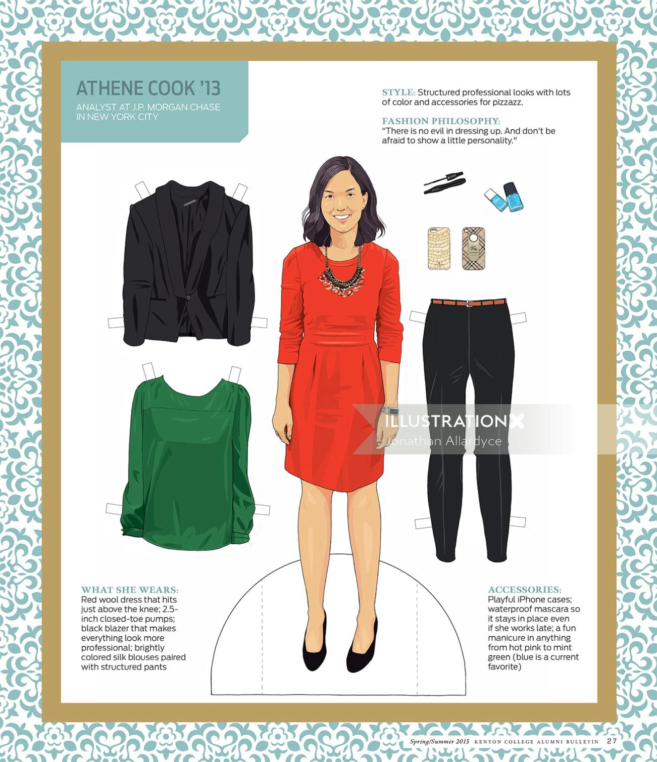Artwork of Fashion woman clothing