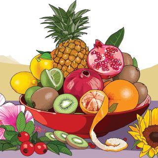 Illustration of Mixed fruits
