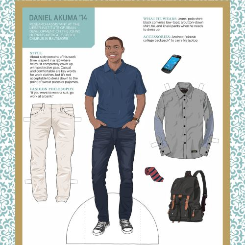 Illustrtation of Fashion men clothing