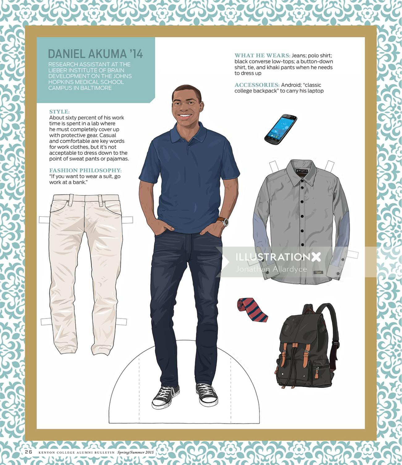 Illustrtation of Fashion men clothing