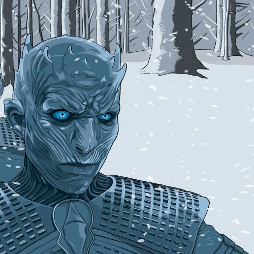 Illustration of White walkers monster