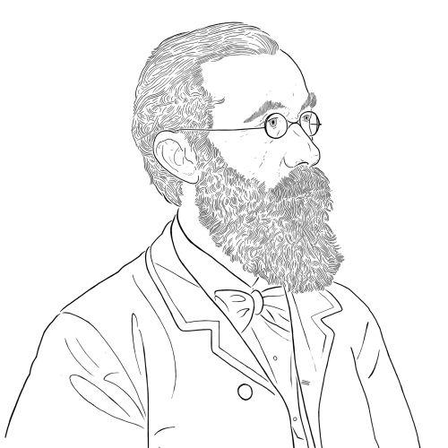 Black and White portrait of Wilhelm Wundt
