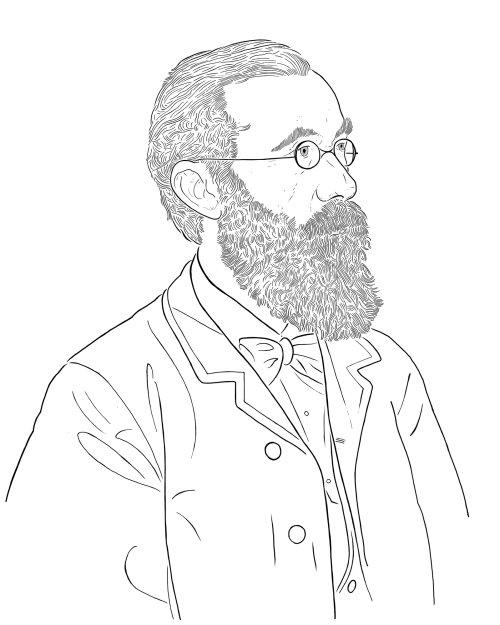 威廉·冯特的黑白肖像