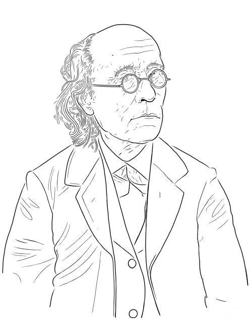 古斯塔夫·费希纳 (Gustav Fechner) 的黑白肖像