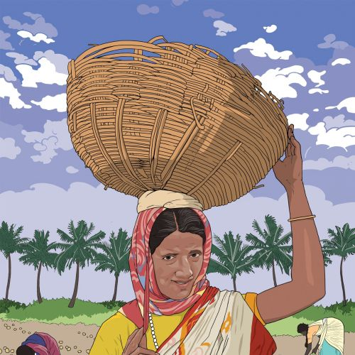 Clothing of an indian lady working in field