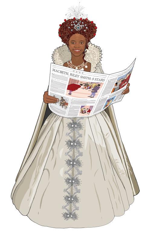 时尚学生阅读新闻报纸