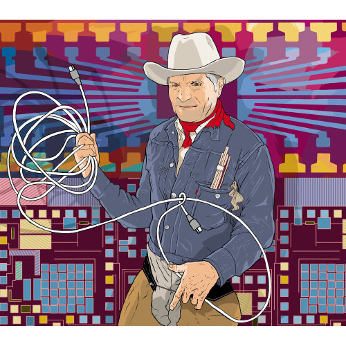 Craig Barrett as cowboy illustration