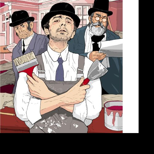 The Ragged Trousered Philanthropists, People with Painting tools, Man with brush,