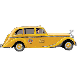 yellow cab, taxi, vehichle