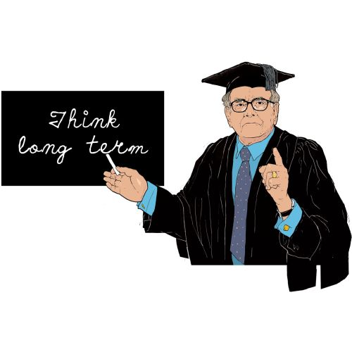 Think long term, Scholar teaching, person with black coat and black hat