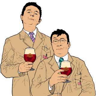 people with different heights, man with wine glass, over coats