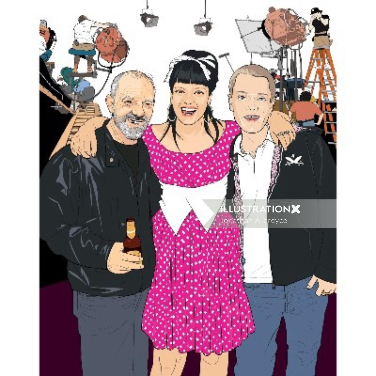 Lily Allen for Zest magazine - An illustration by Jonathan Allardyce