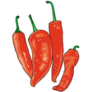 Red Chillies, Pepper, Spicy vegetable, Cooking Ingredient