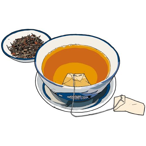 Tea cup illustration by Jonathan Allardyce