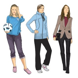 Sports fashion illustration
