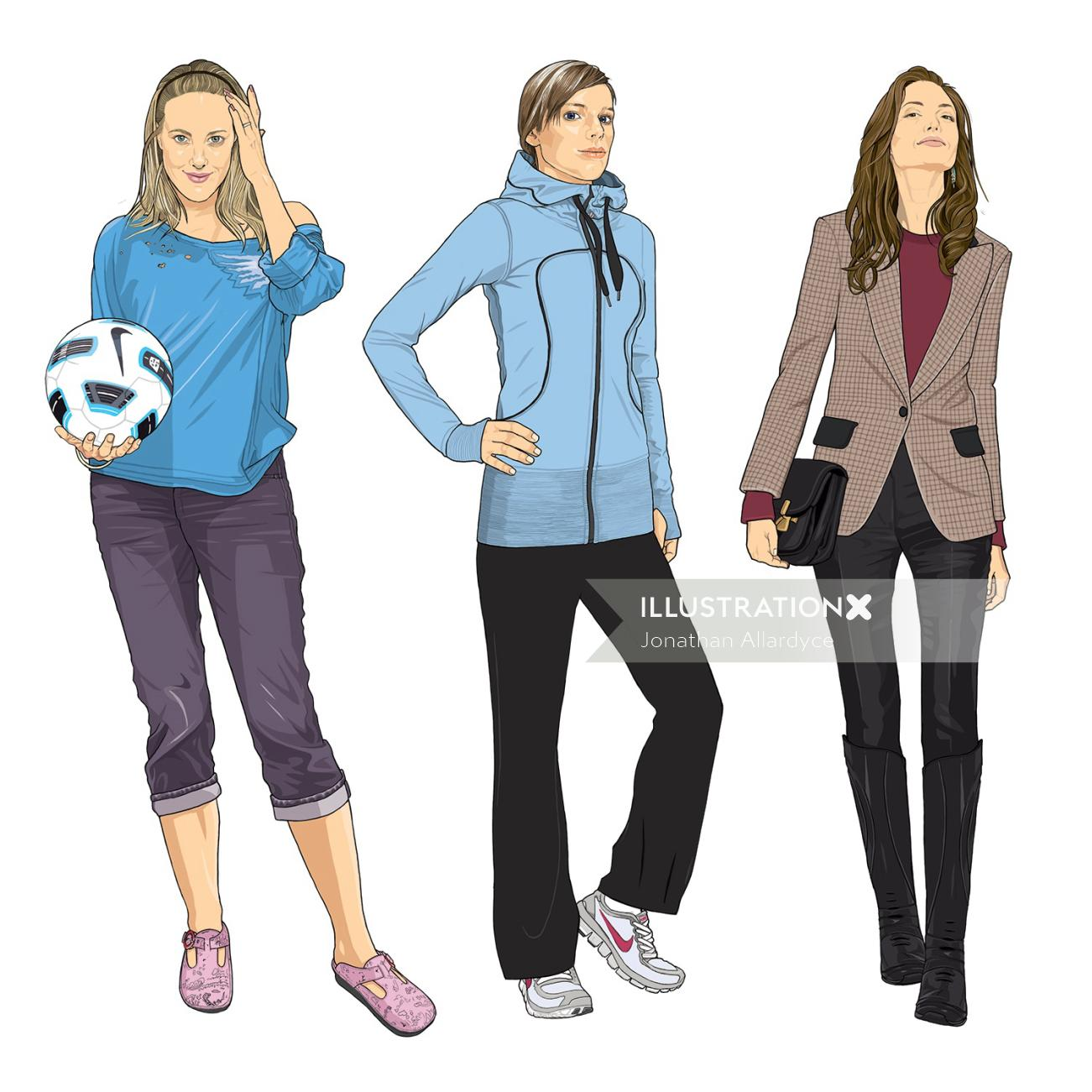 Sports fashion illustration
