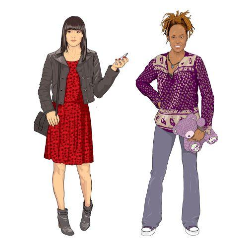 Women dressing illustration by Jonathan Allardyce