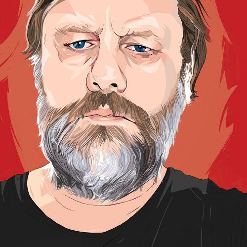 Portrait of Lacanian Marxist illustration by Jonathan Allardyce