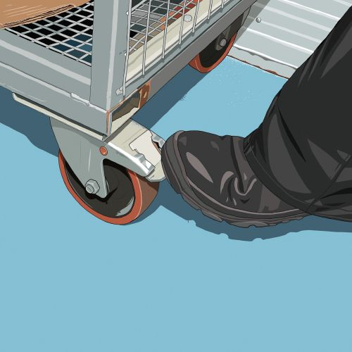 Artwork for Brakes for a health and safety poster.