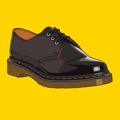 Illustration of Dr Martens Oxblood 1461 Vintage Shoes