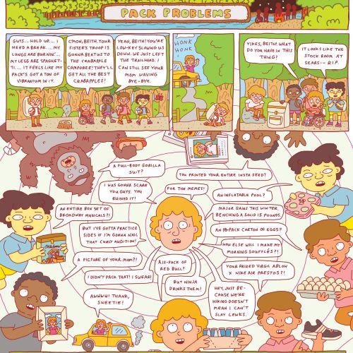 Children comic book illustration