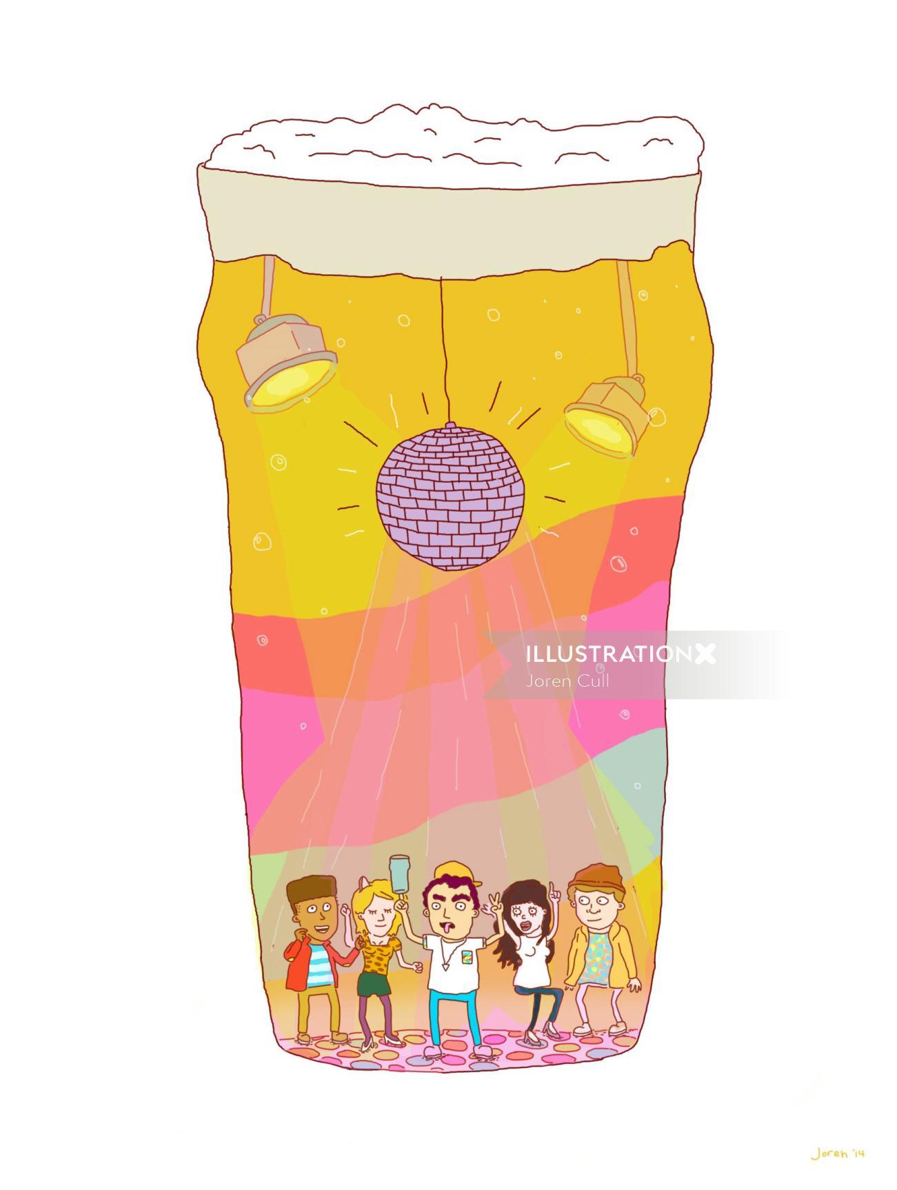 Food & drink illustration of popcorn packet