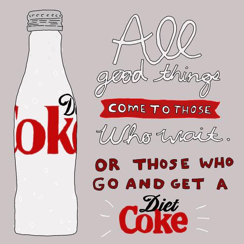 Ilustración publicitaria de Coca-Cola Light.