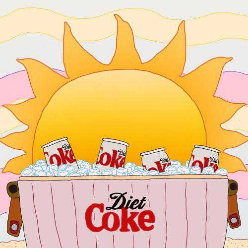 Advertising illustration of Diet Coke