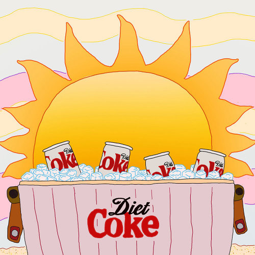 Advertising illustration of Diet Coke